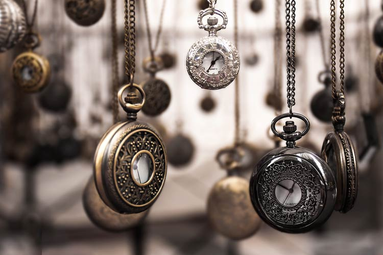 antique watch collection protected by CrossRoads collectors insurance services.